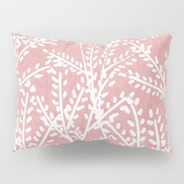 Pink Leaves Pillow Sham