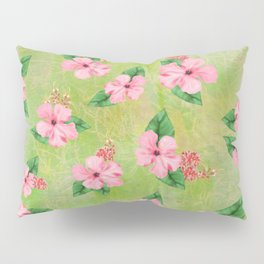 Tropical Flowers Malaysian Inspired Print Pillow Sham