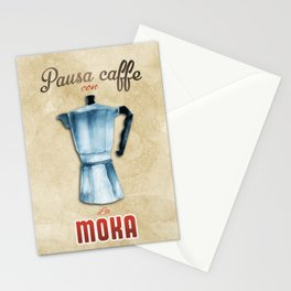 Cafe Poster: Coffee Break with Moka Stationery Cards