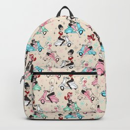 Scooter Girls Pattern Backpack