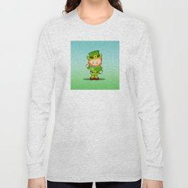 St. Patrick's Day: Lucky Leprechaun With Shamrock Long Sleeve T-shirt