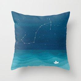Scorpio zodiac constellation Throw Pillow