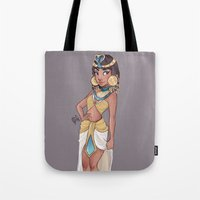 laia Tote Bags featuring Cleopatra by Laia™