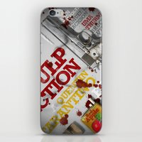 pulp fiction iPhone & iPod Skins featuring Pulp Fiction by Andres Asencio