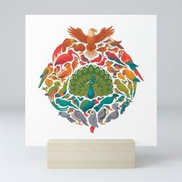 Aerial Rainbow : white Mini Art Print