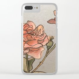 Pink Roses in Bunch Clear iPhone Case