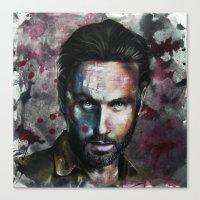 rick grimes Canvas Prints featuring Rick Grimes by Jhaiku