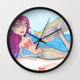 Rainbow Mermaid Wall Clock