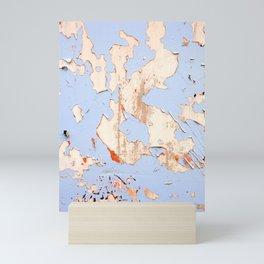 Blue on White Textures 21 Mini Art Print