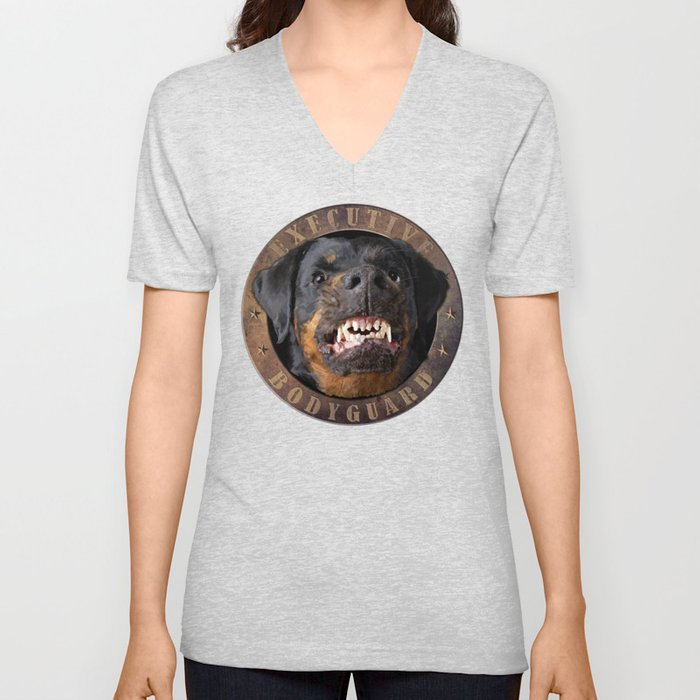 Executive bodyguard Angry rottweiler Unisex V-Neck