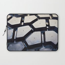 Black rubber tire for tractors and excavator Laptop Sleeve