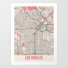 Los Angeles - Califonia Chalk City Map Art Print