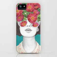 The optimist // rose tinted glasses iPhone (5, 5s) Slim Case