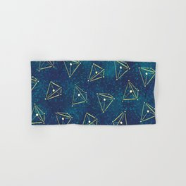 Tetrahedral Molecular Geometry Constellation Art Hand & Bath Towel