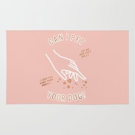 Can I Pet Your Dog – Rose Gold & Blush Palette Rug
