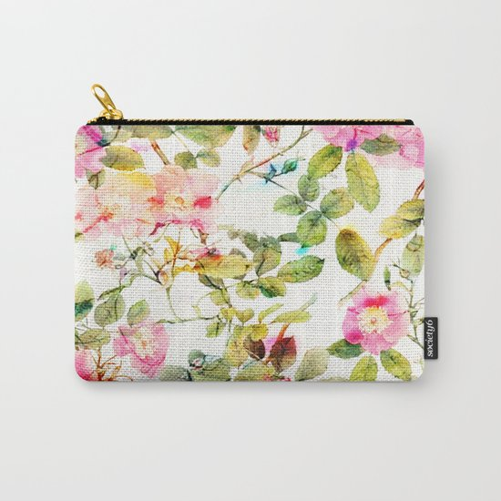 soft pink rosebush Carry-All Pouch
