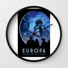 Europa - NASA Space Travel Poster Wall Clock