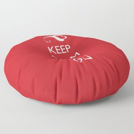 Keep Calm Cavy On Floor Pillow