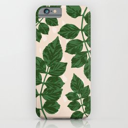Sweet Leaf Motif on spotted peach iPhone Case