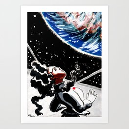 Red Flag to Blue Marble Art Print