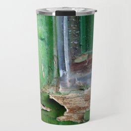 Vintage Green Window Frame 1 Travel Mug