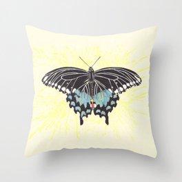 Small Spicebush Swallowtail Throw Pillow