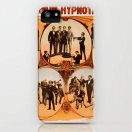 Vintage poster - Barnum the Hynotist iPhone Case