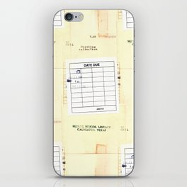 Library Book Date Due Card iPhone Skin