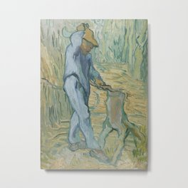 The Woodcutter (after Millet) Metal Print