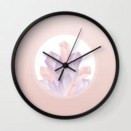 Rose Gold Crystals Wall Clock