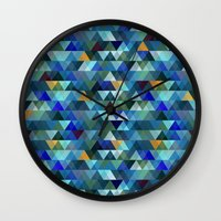 crystal Wall Clocks featuring Crystal by Marcelo Romero