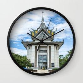 The Memorial Stupa of Choeung Ek, Cambodia Wall Clock