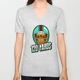 American Football Wide Receiver Quarterback Yards Unisex V-Neck