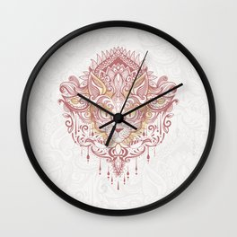 Cat mandala Wall Clock