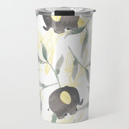 Tropical Baby Elephants Travel Mug