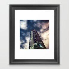 Night Tower Framed Art Print