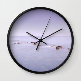 Purple seascape.  Wall Clock
