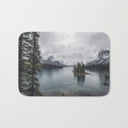Maligne Lake Jasper Alberta Bath Mat