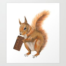 Super squirrel. Art Print