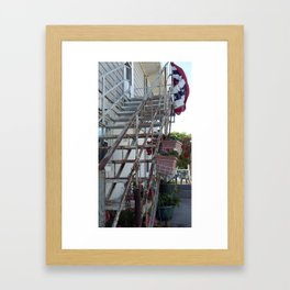 Stairs to Freedom Framed Art Print