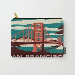 vintage poster san francisco Carry-All Pouch