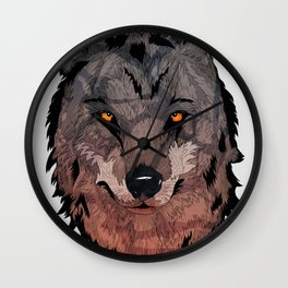 Wolf Mother Wall Clock