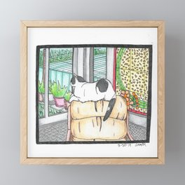 Abbie with Stained Glass Framed Mini Art Print