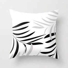 Black&Grey Branches Throw Pillow