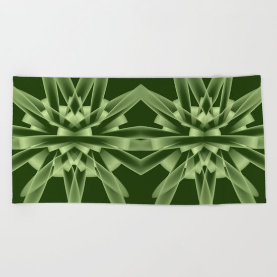 Abstract in green tones Beach Towel