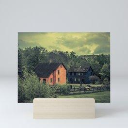 Historic Miners Village Coal Mining Town Pennsylvania Eckley Rural Living Mini Art Print