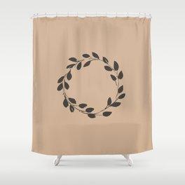 Simple Wreath on Hazelnut Shower Curtain