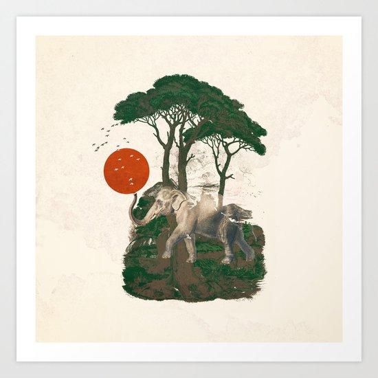 Savanna Sunrise Art Print