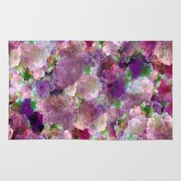 Beautiful ultra violet floral pattern Rug