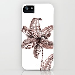 Henna Lily iPhone Case